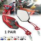 Universal Motorcycle Motorbike Scooter Rearview Rear View Side Mirrors 10mm 8mm image