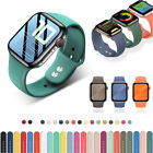 38/40/42/44mm Silicone Sport iWatch Band Strap for Apple Watch Series 6 5 4 3 SE