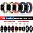 40/42/44mm Nylon Sport Loop iWatch Band Strap for Apple Watch Series 6 5 4 3 SE