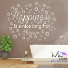 Happiness Is A Nice Long Hot Shower Bathroom Wall Sticker Decal Quote