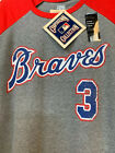 New w TAGS - Atlanta Braves Cooperstown 3/4 Sleeve Jersey Shirt #3 Murphy on Ebay