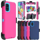 For Samsung Galaxy A51 Phone Case Shockproof Stand Clip Holster Armor Hard Cover