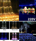 3x3M 320 Led 8modes EU Waterfall Curtain Icicle LED String Light Garland Wedding
