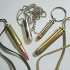 """Bullet Pendant on 30"""" Ball Chain or Suede Lace - Over 300 Variations image"""