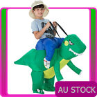 Kids Dinosaur Rider Costume Ride T-Rex Inflatable Carry Me Blow Up Book Week