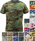 Camo T-Shirt Tactical Tee Short Sleeve Military Army Camouflage Uniform Fashion image