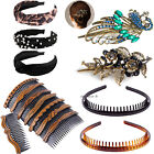 Hair Side Combs Retro Hair Styling Accessories Headdress Headband Sets for Women
