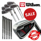 Wilson Golf Iron Set Mens Deep Red Tour 6 Clubs SW Right Hand Steel Irons