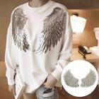 1 Pair Angel Wings Embroidery Fabric Patch Lace Sew Cloth Decoration Diy B9i3