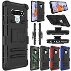 For Lg Stylo 6 Phone Case Shockproof Tpu Belt Clip Holster Kickstand Armor Cover