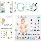Newborn Baby Monthly Growth Milestone Blanket Photography Props Background Cloth