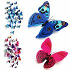 12pcs 3d Butterfly Wall Stickers Decal Removable Mural Home Room Nursery Decor