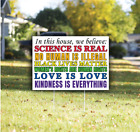 IN THIS HOUSE We Believe - Black Lives Matter - 16x24 Yard Lawn Sign -Free Ship