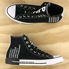Converse Chuck Taylor All Star Hi Top Black White Seek Peace Shoes 165766F Size
