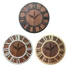 Wall Clock Modern Design Mechanism Vintage Digital Metal European Wooden R Q0N9