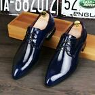 Men British Pointed Toe Block Carving Hollow Out Breathable Formal Leather Shoes