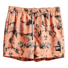 Superdry NEW Men's Tie Dye Volley Swim Shorts - Coral Tire Dye BNWT