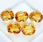 Wholesale Lot 10x8mm Oval Facet Natural Golden Citrine Loose Calibrated Gemstone