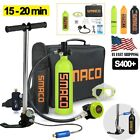 SMACO 1L Mini Scuba Cylinder S400+ Underwater Diving Breathe Tank Air Hand Pump