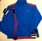 NWT ORIG $283.98! ADIDAS Unisex 2pc Warm Up/Track Suit by GK Blue Size Med
