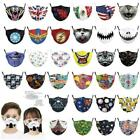 Kids Unisex Protective Adjustable Mouth Masks Pm2.5 Filters Washable Face Shield