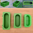 Plastic Green Food Water Bowl Cups Parrot Bird Pigeons Cage Cup Feeding FeedHFUK