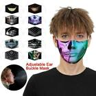 Fun Hiphop Face Mask Stylish 3d Printed Face Cover Reusable Outdoor Protection