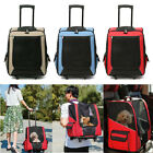 Cat Dog Rolling Back Pack Pet Carrier Travel Airline Wheel Luggage Bag CN US