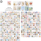 KE_ 400Pcs DIY Vintage Poster Paper Sticky Notes Diary Scrapbook Material Grac
