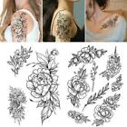 Womens Removable Waterproof Temporary Flower Tattoo Body Art Stickers Legs F3q8