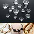 Flatback Transparent Clear Glass Domed Cabochons Cover Findings Round J3h0 S5j1