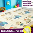 3 Sizes Double Sides Baby Crawling Thick Play Cover Mat Folding Rug Floor US