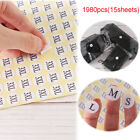 organizer Clothing size dividers Size labels Garment tags Label Stickers