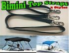 BIMINI TOP STRAPS-3 SIZES-2 STYLES & 13 COLORS-BOATS-HD-SNAP SWIVEL BUCKLE