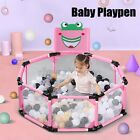 39''x15.5'' Baby Playpen Kids Activity Center Safety Home Yard Pen Fence Outdoor