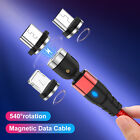3 in 1 Magnetic Cable Diamond LED Type C Micro USB Charger For Android iPhone 12