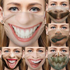 3d Protective Mask Funny Face Mouth Cosplay Party Half Mask Outdoor Accessory