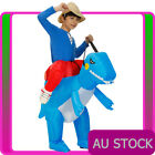Child Dinosaur Rider Costume Ride TRex Inflatable T-Rex Kids Carry Me Blow Up