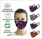 Face Mask Washable Reusable Cover Shield Breathable Double Layer Protection PPE