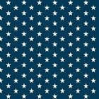 Cotton Classics - Navy - Stars - Small White Star on navy - 100% cotton Fabric N
