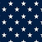 Cotton Classics - Navy - Stars - Large White Star on navy - 100% cotton Fabric N