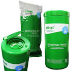 Clinell Universal Detergent Disinfectant Surface Cleaning Wipes, Tub 100 Wipes