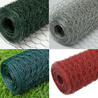 25m Galvanised Steel PVC Coated Wire Net Mesh Fence Hexagonal Nets Chicken Cage