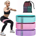 Fabric Cloth Resistance Booty Bands Loop Set of 3 Exercise Workout Gym Fitness
