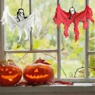 1x Halloween Scary Hanging Ghost Skeleton Skull Yard Decor Red Garden Props T0P2