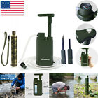 Outdoor Military Emergency Water Filter Straw Purifier Survival Camping Hiking
