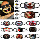 Lot 3d-print Funny Face Mask Protective Covering Washable Reusable Adult-unisex