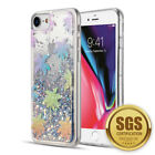 For Apple iPhone 6/6s/7/8/SE (2020) Waterfall Sparkling Quickstand TPU Hard Case