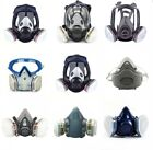 Full/Half Face Gas Mask Respirator Set For Painting Spraying Safety Facepiece US