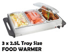 NEW Electric Plate / Food Warmer Buffet Server 3 Tray Bain Marie Stainless